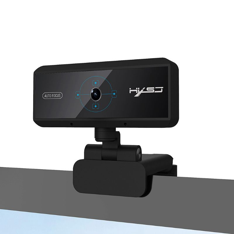 1080P 2Million Webcam with Microphone,Fast Auto Focus for Video Calling meeting
