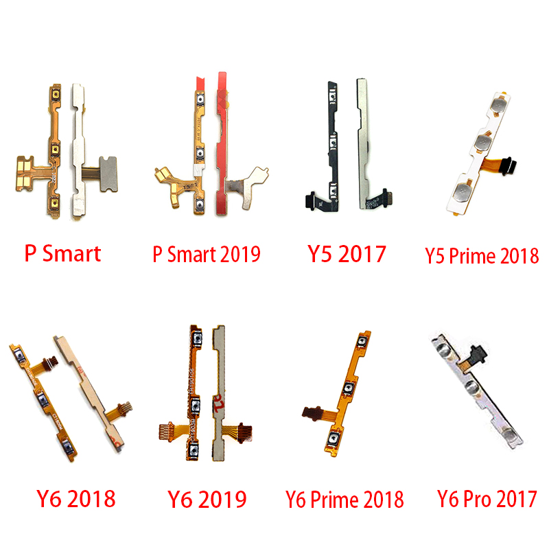 New Power On/off  Switch Button Side Key Volume Up Down Flex Cable For Huawei Y5 Y6 Y7 Pro Y9 Prime 2017 2018 2019 Repair Part