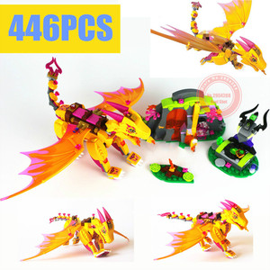 New Azari Magical Bakery Fire Dragon Fit Fairy Elves 41175 Figures Friends Building Blocks Bricks Girls Gift Kid Xmas(China)