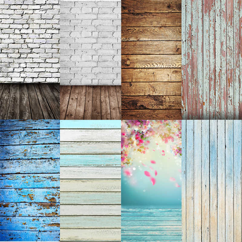Wooden Planks Flower Photography Background Cloth Backdrop Studio Decor photo studio