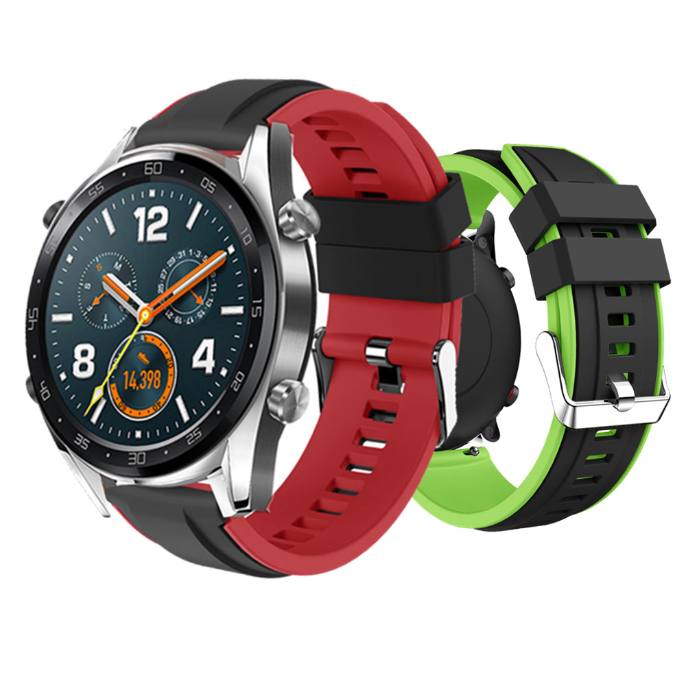 22mm Bracelet For Huawei Watch GT Strap Silicone Wrisrband For Huawei GT Watch Band/Magic For Xiaomi Amazfit Stratos 2/Pace 1