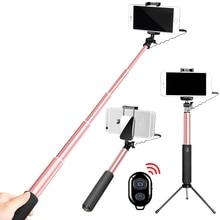 Mobile Phone Bluetooth Selfie Stick Remote Control Selfiestick Tripod Table Stand Holder Mirror Selfie Stick for Xiaomi/Huawei недорого