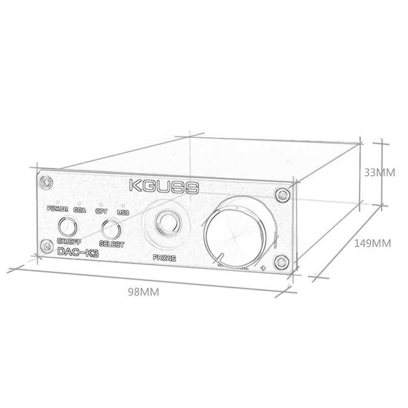 Kguss ミニハイファイ 2.0 Usb デジタルアンプ Dac デコードオーディオヘッドホンアンプ 24Bit 192 125khz Opa2134 アンプ Dc12V-米国プラグ