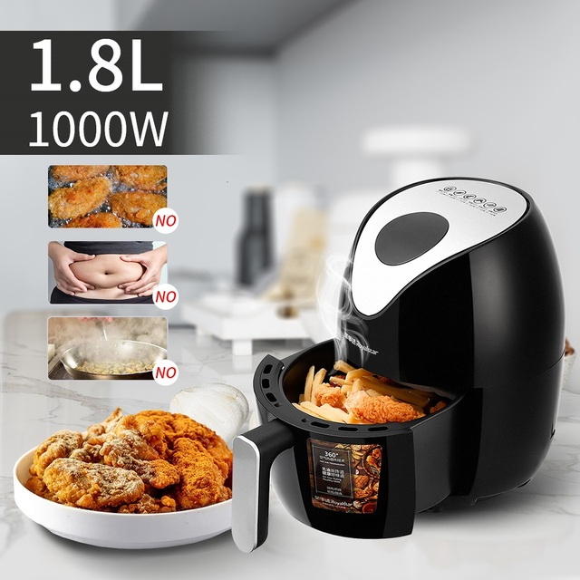 Fast Air Fryer 1000W 1.8L Multifunction Air Fryer without oil fume Fry Chicken French fries meat Egg Tart food for home use 2