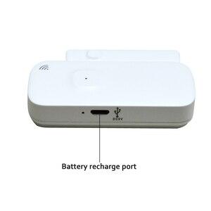 Image 4 - チュウヤドアセンサーバッテリー充電ポートワイヤレス磁気窓検出器マグネットスイッチオープン警報スマートライフ alexagoogle