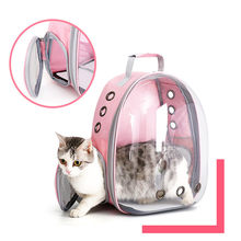 Cat Carrier Bags Breathable Pet Space BagSmall Dog Cat Backpack Travel Space Capsule Cage Pet Transport Bag Carrying for Cats