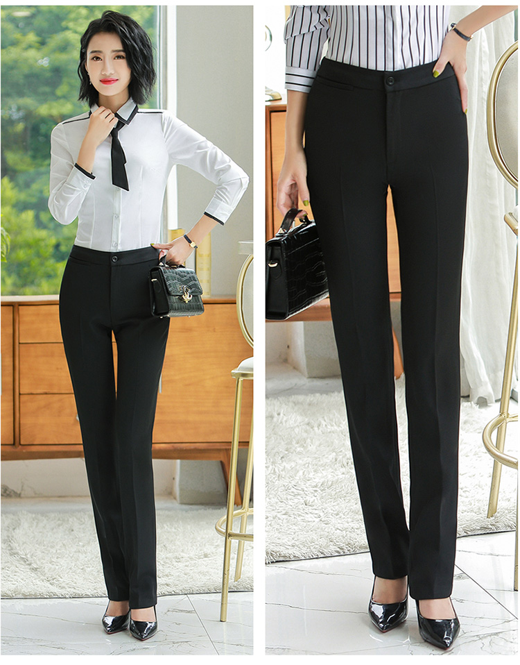 H182f15fb862c4939bb29933100ecbe45s - Autumn Business Casual Long Trousers Women Solid Black Blue Red Formal Pants Office Ladies Work Wear Straight Suit Pant 4XL