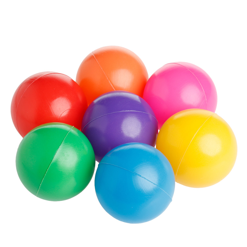 100 Pcs Colorful Fun Ball Soft Plastic Ocean Ball Baby Kid Toy Swim Pit Toy New 72XC