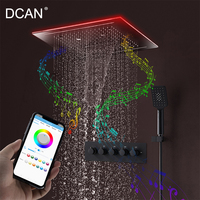 DCAN Music Natural SPA Massage 16 inch Shower Ceiling Square Led Waterfall Rain Shower Smiley Music Shower