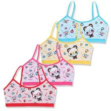 new Teenage Girls Training Bra Kids Underwear Cotton Cartoon Panda Small Young School Children Vest Bras Child Underclothes 19QF(China)