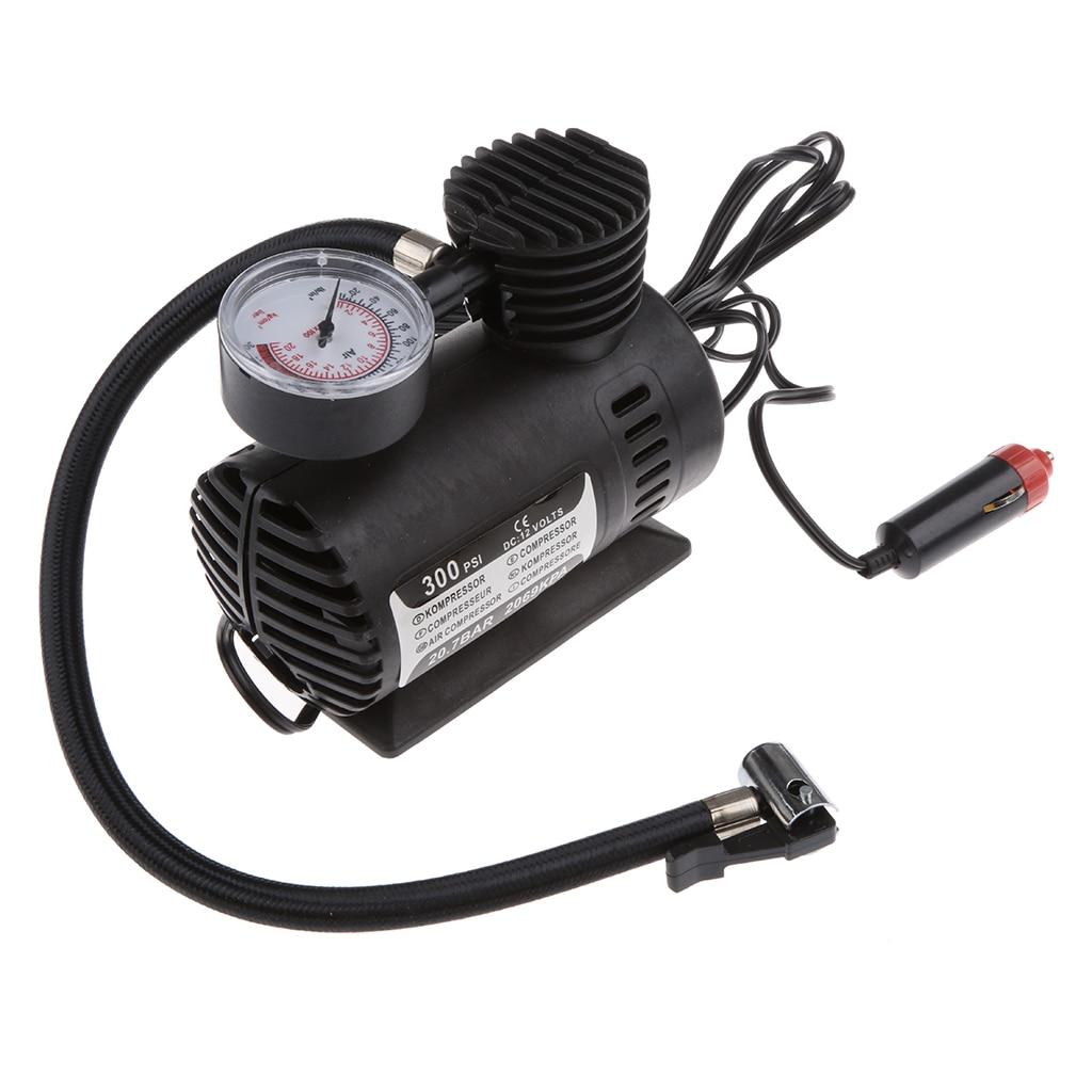 Portable Mini Air Compressor Electric Tire Infaltor Pump 12 Volt 110V Car US