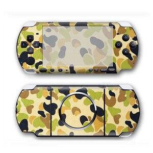 Image 3 - كامو تصميم جلد فينيل ملصق حامي لسوني PSP 3000 غطاء مائي لملحقات لعبة PSP3000