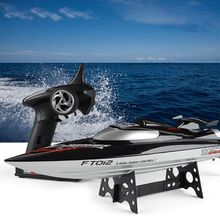 FeiLun FT012 Brushless RC Racing Boat 2.4G 4CH Remote Control Speedboat 45km/H Self-Righting Anti-Collision Toys 634F