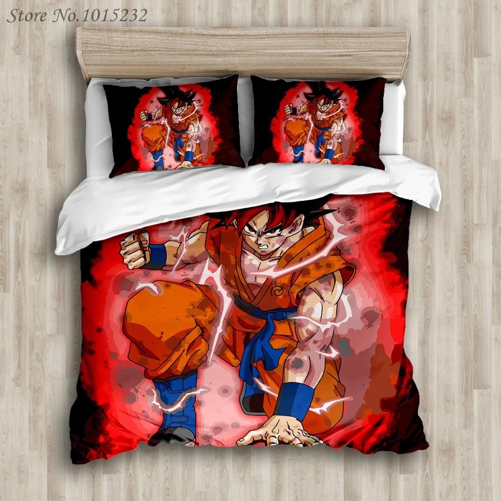 DRAGON BALL Z 3D Bedding Set Duvet Cover Pillowcase Bed Linen Son Goku Vegeta