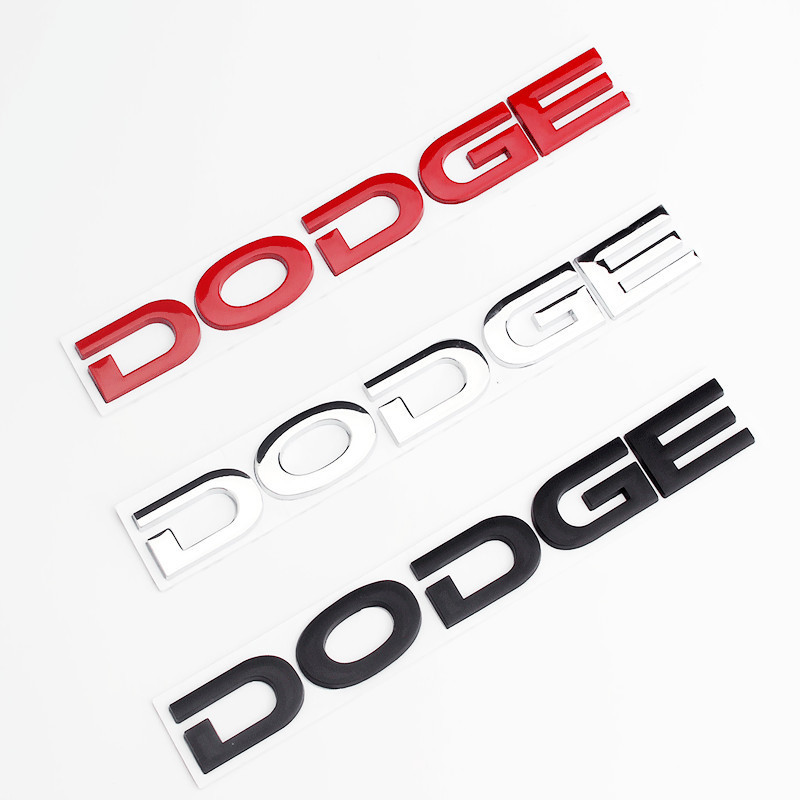 Car Styling for Dodge Logo Letter Emblem Badge Stickers For Chrysler vw Dodge journey challenge Charger RAM Jeep Car Accessories
