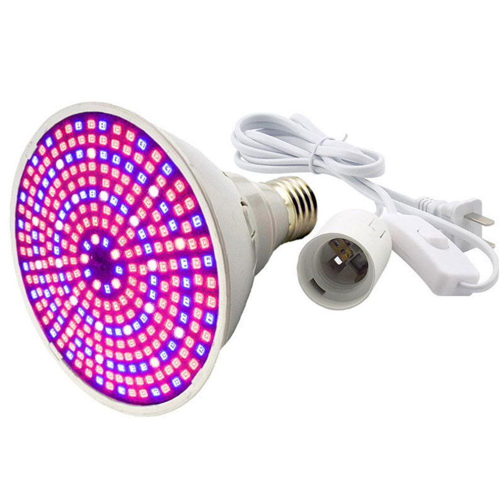 290 Led-Bead Plant Grow Light Lamp Full Spectrum Bulb E27 Set For Flower Seeds Greenhouse Touchable Lights EU/US/AU Type
