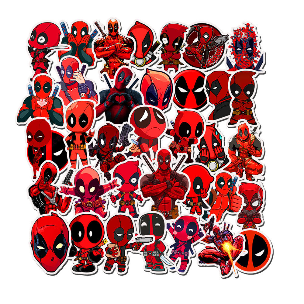 Marvel Deadpool Bullet PVC Jpurnal Adhesive Stickers DIY Decoration Diary Stationery Stickers Children Gift