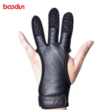 Leather Archery Finger Guard Protection Pad Glove Tab Bow Shooting Protectoy1