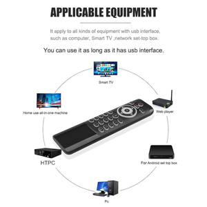 Image 4 - MT1 Wireless Fly Air Mouse 2.4G Smart Voice Remote Control Support For Backlit Gyro IR Learning with MIC for X96 H96 MAX TV Box