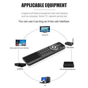 Image 4 - MT1 kablosuz sinek hava fare 2.4G desteği arkadan aydınlatmalı Gyro IR öğrenme için MIC ile X96 H96 MAX TV kutusu akıllı ses uzaktan kumanda