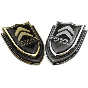 Для Citroen Логотип Elysee Berlingo Xsara C3 C4 кактус Picasso Sega Aircross металлический антибликовый козырек для автомобиля эмблема Стикеры Авто Знак украшения