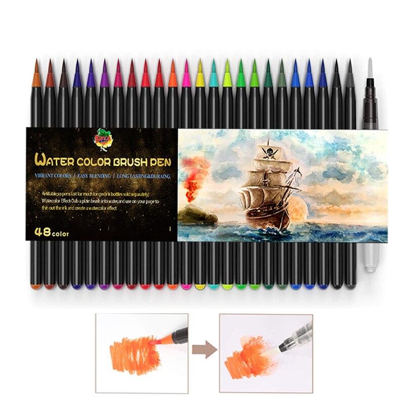 Art Marker Flexible Tip Watercolor Brush Pen
