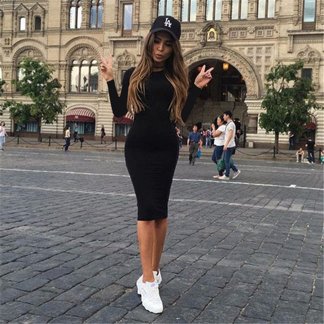 Solid Color Chic Party Dresses Casual Sleep Wear Inside Wear Vestiges Pencil Dress