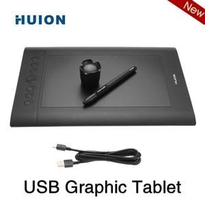 Image 1 - Huion USB Grafik Tablet Kunst Zeichnung Tablet Verbesserte H610 PRO V2 Pad Kunst Digitale Handschrift Zeichnung Bord mit Batterie freies Stift