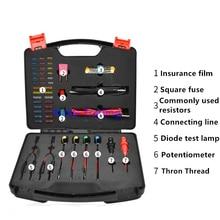 automobile circuit repair kit, car sensor detector simulator, insurance film diode test lamp potentiometer tool set