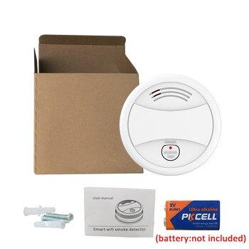 WiFi Smoke Detector Fire Alarm Tuya APP Smart Life APP Fire Detector Smoke Sensor Security Detector big discount wireless zigbee smart carbon monoxide detector 85db fire alarm controlled by mobile app