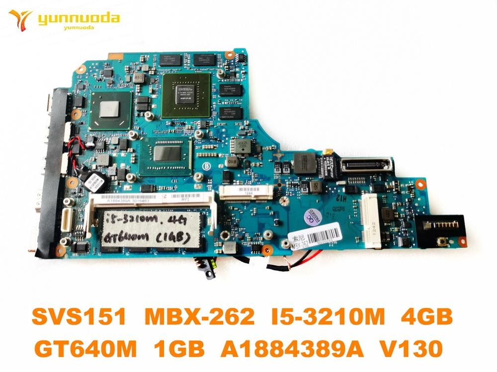 Original for SONY SVS151 MBX-262 Laptop otherboard SVS151 MBX-262 <font><b>I5</b></font>-<font><b>3210M</b></font> 4GB GT640M 1GB A1884389A V130 tested good image