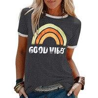 חולצת טי שירט מודפסת Good Vibes ווייבים טובים
