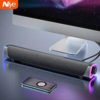 Niye-Barra de altavoz para ordenador con Bluetooth, Subwoofer envolvente estéreo con cable para ordenador portátil, PC, teatro, TV Aux, altavoz 3D de 3,5mm