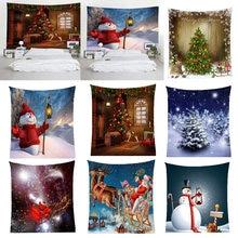 3d Рождественская печать настенный гобелен Фон рождественские