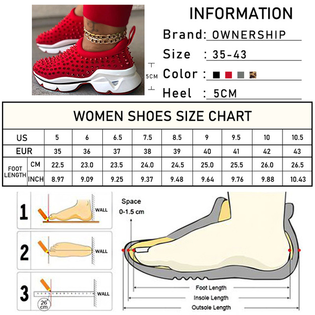 Zapatillas de deporte vulcanizadas con remaches para mujer, zapatos deportivos con cuñas de plataforma para mujer, calzado informal de leopardo sin cordones de talla grande, 2021 6