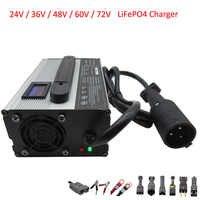900W 24V 36V 48V 60V 72V LiFePO4 cargador de batería 29,2 V 25A 43,8 V 20A 58,4 V 15A 73V 12A 87,6 V 10A carrito de Golf de la carretilla elevadora EZGO cargador