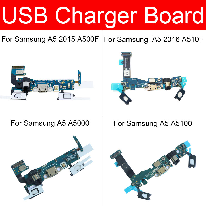 USB Plug Charger Jack Board For Samsung Galaxy A5 2015 2016 A510F A500F A5000 A5100 Usb Charging Port Dock Board Replacement