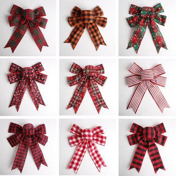 Ozdoby ślubne ozdoby świąteczne zawieszki ozdobne na choinkę świąteczne dodatki świąteczne kokardki pakowanie prezentów tanie i dobre opinie bow-011 Bez pudełka