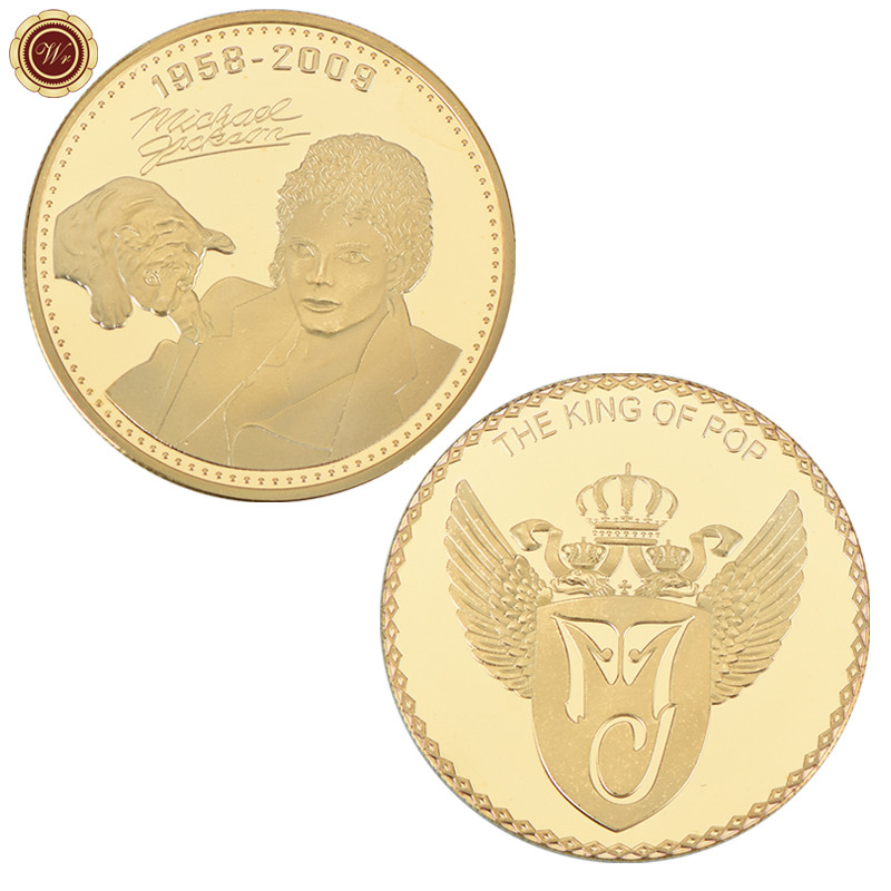 1958-2009 24k Gold Plated Coin in Case King Of Pop Singer Michael Jackson