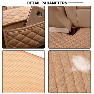 Image 5 - Car Seat Covers Linen Fabric Car Seat Protector Four Seasons Front Rear Flax Cushion Breathable Protector Auto accessories