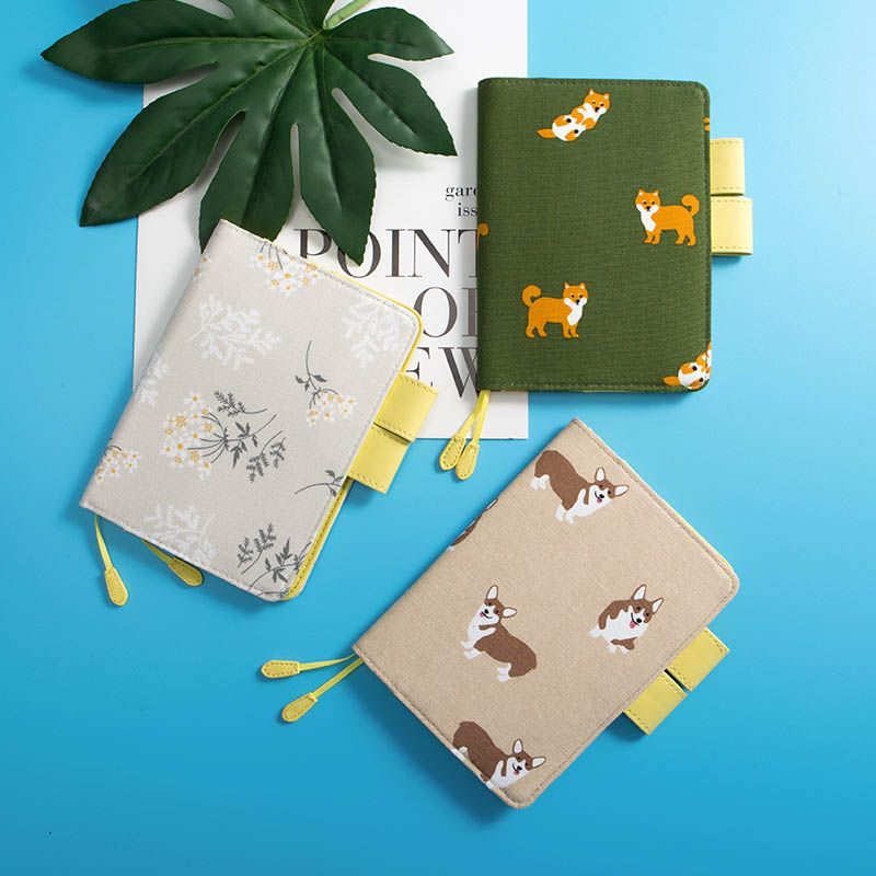 Cute Dog And Flower Theme Hobonichi Fashion Journal Cover A6 2020 New DIY Planner Diary Supplies