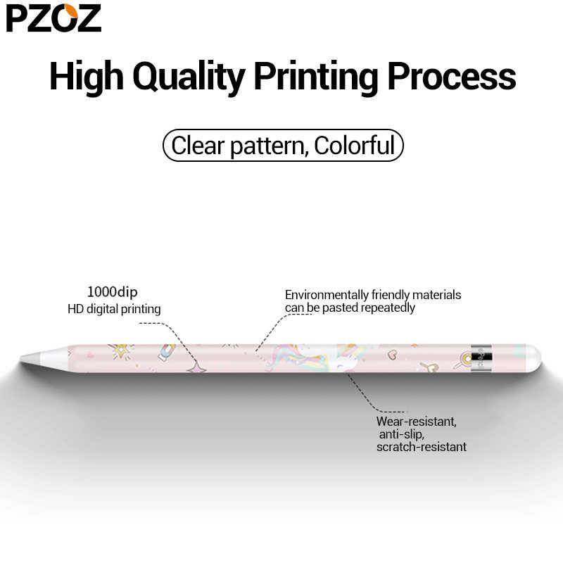 Pzoz Stickers Voor Apple Potlood 1 2 Beschermende Papier Scratchproof Ultra Dunne Geschilderd Stickers Touch Stylus Pen Sticker Non-slip