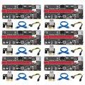 009S PCIe PCI-E PCI Express Riser Karte cabo 1x zu 16x USB 3,0 Kabel SATA zu 4Pin IDE Molex netzteil für BTC Miner Maschine