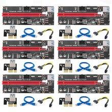 009s pcie pci-e pci express riser cartão cabo 1x a 16x usb 3.0 cabo sata para 4pin ide molex fonte de alimentação para máquina de mineiro btc