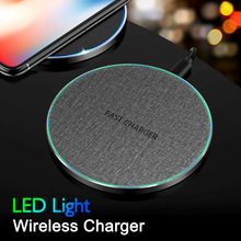 Wireless Fast Charger For Huawei P30 lite For iPhone 11 Xs Max X 8 Plus 10W Qi Wireless Charger Charging Pad For Samsung Note 9