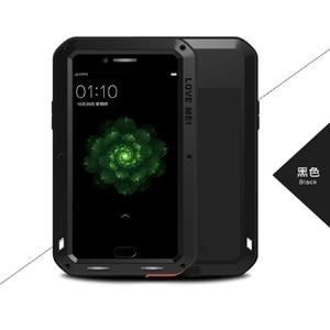 Image 1 - Чехол для телефона LOVE MEI для OPPO R9s Plus Armor спортивный Открытый Алюминиевый металлический жесткий защитный чехол для OPPO R9 Plus из закаленного стекла