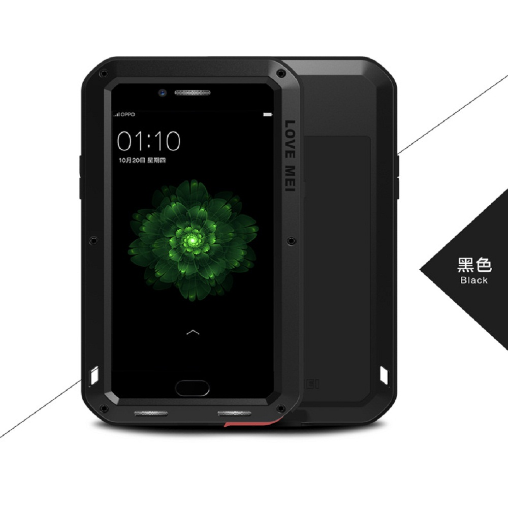 LOVE MEI Phone Case for OPPO R9s Plus Armor Sports Outdoor Aluminum Metal Hard  Protection Cover for OPPO R9 Plus Tempered Glass-in Fitted Cases from Cellphones & Telecommunications