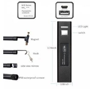 Image 2 - 와이파이 내시경 카메라 미니 방수 소프트 케이블 검사 카메라 8mm 1 m usb 내시경 내시경 아이폰에 대한 ios 내시경