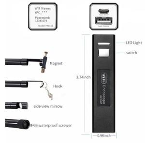 Image 2 - 無線 LAN 内視鏡カメラミニ防水ソフトケーブル検査カメラ 8 ミリメートル 1 メートルの USB 内視鏡ボアスコープ IOS 内視鏡 Iphone
