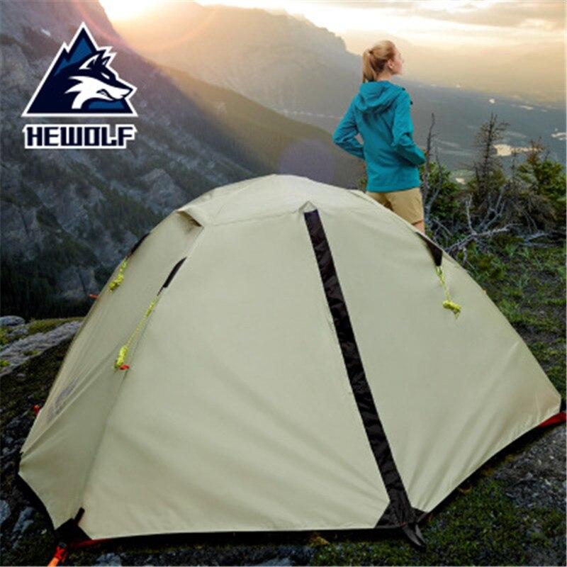 Hewolf 2 человек Водонепроницаемый Ветрозащитный Кемпинг палатки для отдыха на открытом воздухе двухслойный Туризм Рыбалка пляж туристически...
